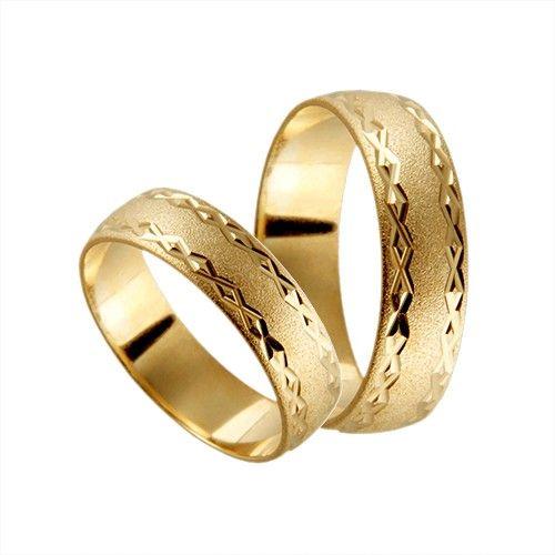 Förlovningsring 9k guld, kupad 6 mm - Frost - Amethyst