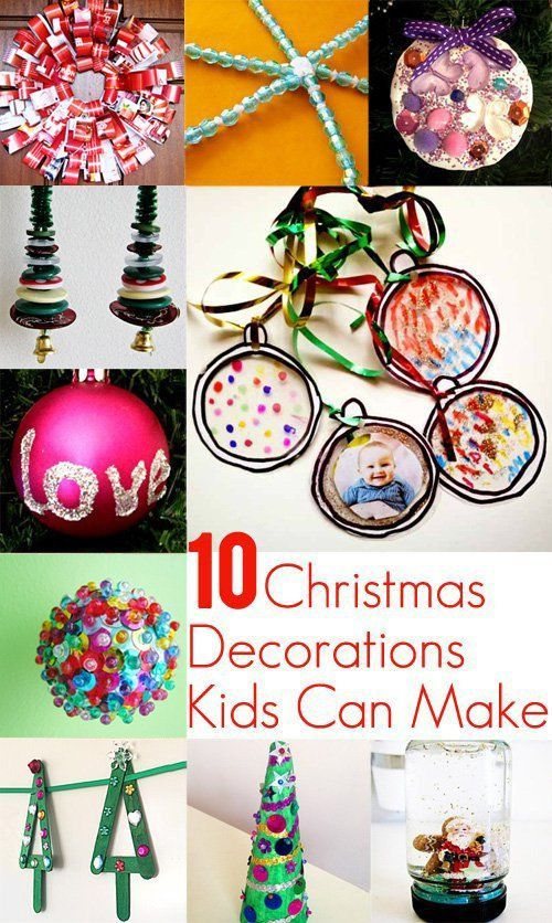 10 Christmas Decorations Kids Can Actually Make