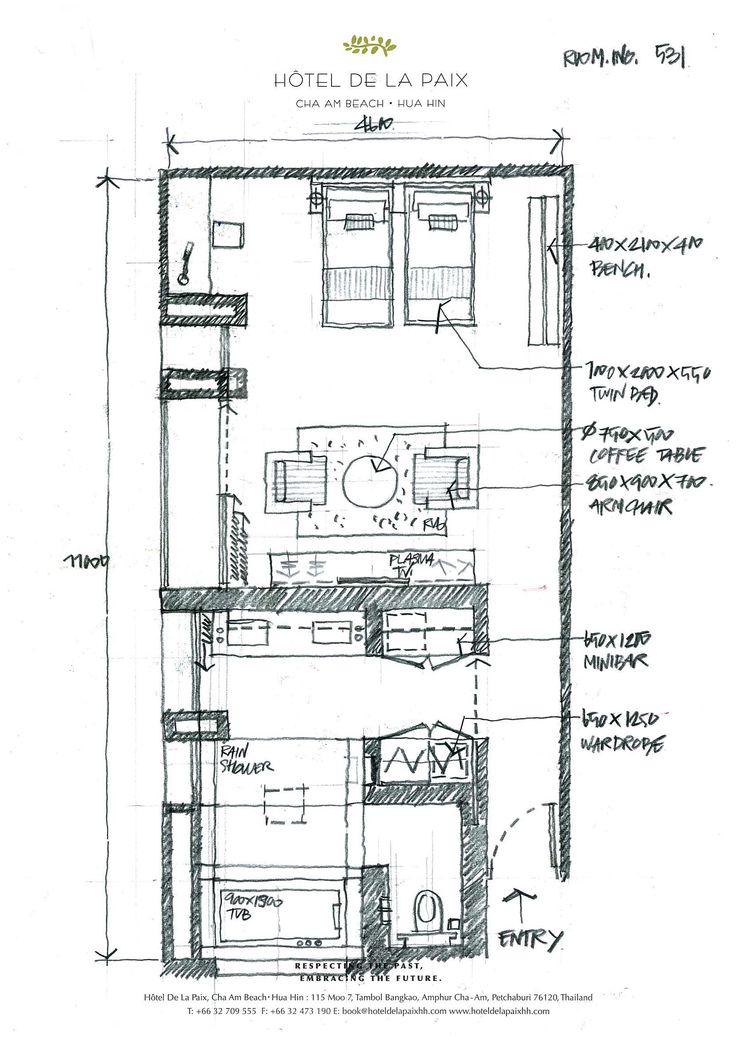 Room Design Floor Plan: 117 Best Images About Hotel Room Plans On Pinterest