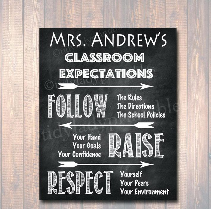 Classroom Decoration Printables For High School ~ Best classroom rules display ideas on pinterest