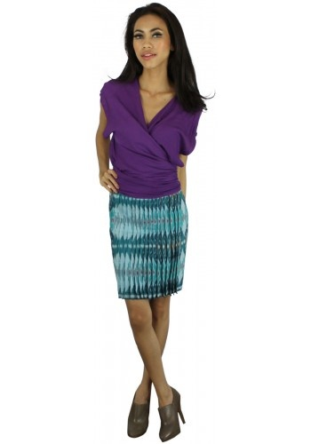 Elmira Skirt by m.e with Milcah's Multiwear Flare Top in Purple
