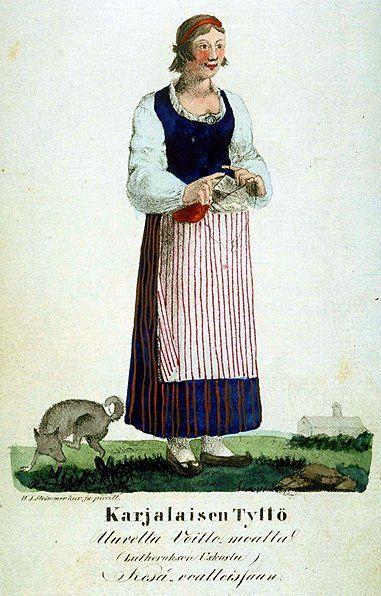 Girl from Karjala - Karelians - Karelian traditional costume