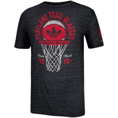 adidas Portland Trail Blazers Springfield Classic Net Tri-Blend T-Shirt - Black