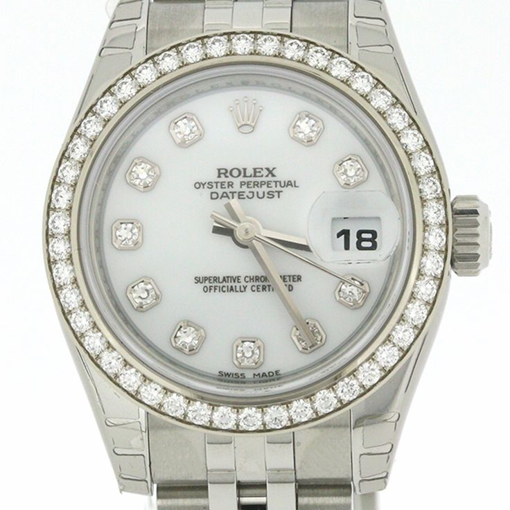 "ROLEX DATEJUST 179384 K18WG STAINLESS STEEL DIAMOND BEZEL[Price]JPY 1,330,000 *Approximately[Condition]""EXCELLENT pre-owned condition"""
