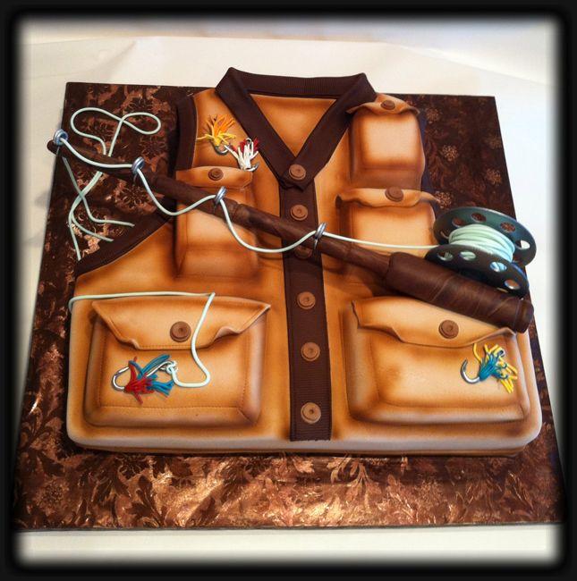 Fly Fishing Vest Cake