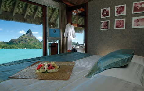 Bora Bora in an overwater bungalow...sound like heaven????