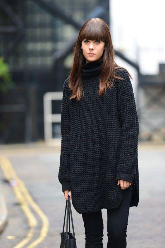maglione nero consulente di immagine | x puzzina in 2019