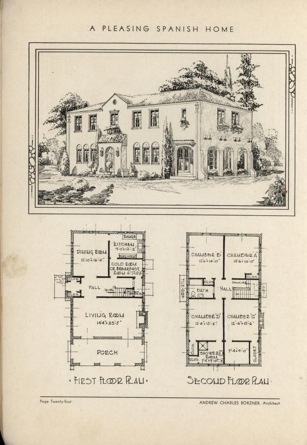 Spanish home by Architect Andrew Charles Borzner. The book of beautiful homes. by Andrew C. Borzner Published 1932 BookReaderImages.php (607×878)