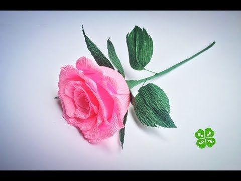 Crepe paper Roses - YouTube