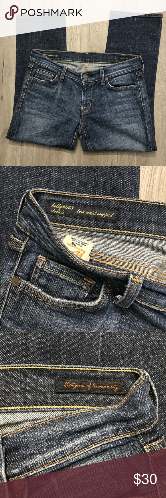 """Citizens of Humanity Women's Capris Women's size 28. The style is """"low waist cropped, Kelly #063 stretch"""". Worn about twice, great condition. No stains or rips! :) Citizens Of Humanity Jeans"""