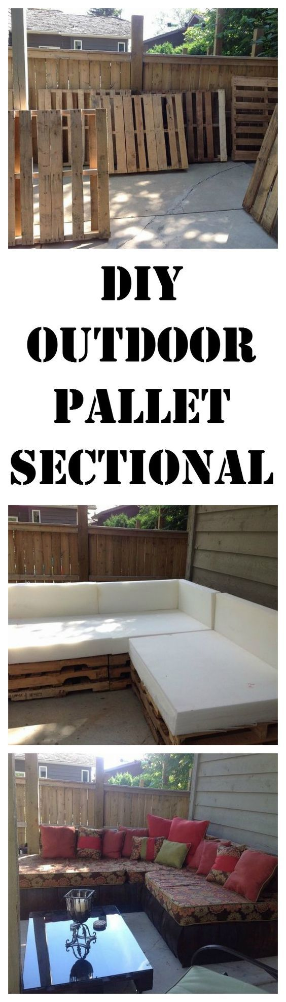 DIY an outdoor sectional from pallets.  http://www.hometalk.com/l/cHG: