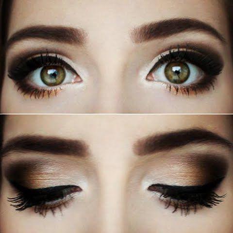 Warm chocolate smokey eye.