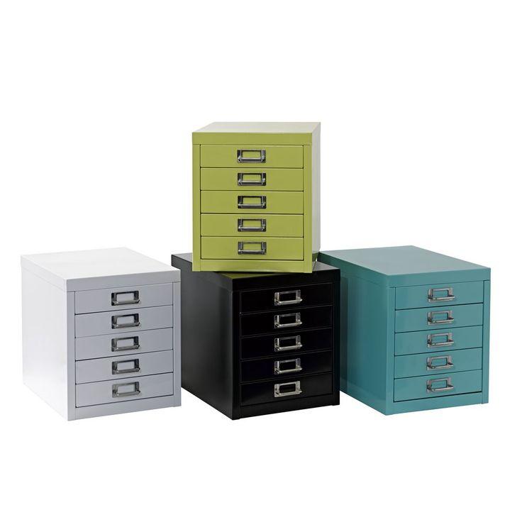 A4 5 Drawer Mini Filing Unit Blue   Officeworks