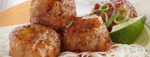 Boulettes de viande à la sauce thaïlandaise piquante