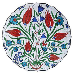 Iznik turc à motif de tulipes.