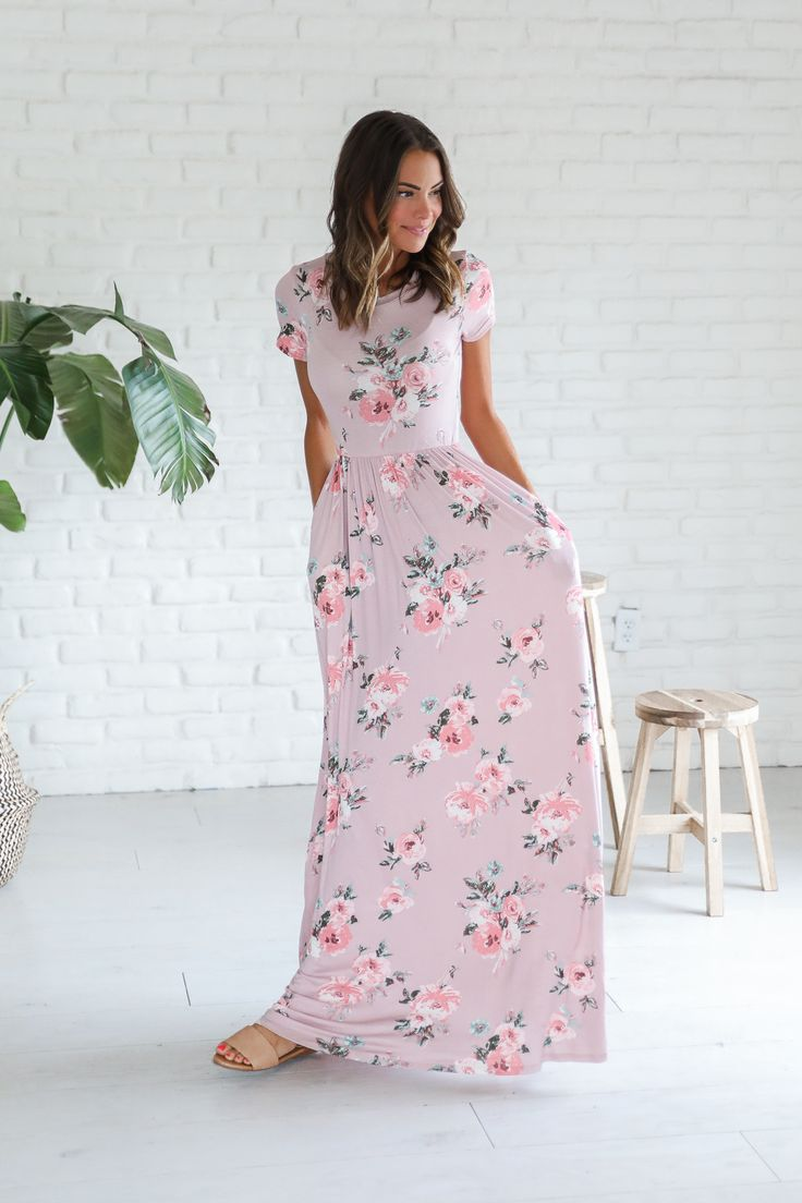 Blush Floral Maxi Dress – Luca + Grae