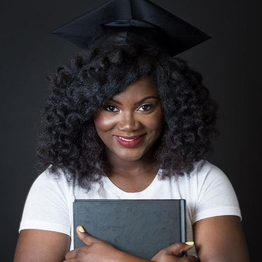 Natural Hair inspiration for graduation caps.   Essence.com