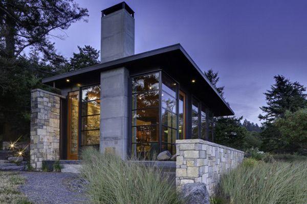 Northwest modern home design home design ideas pinterest for Modern stone house design