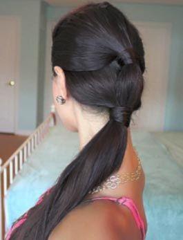 cola de caballo peinado