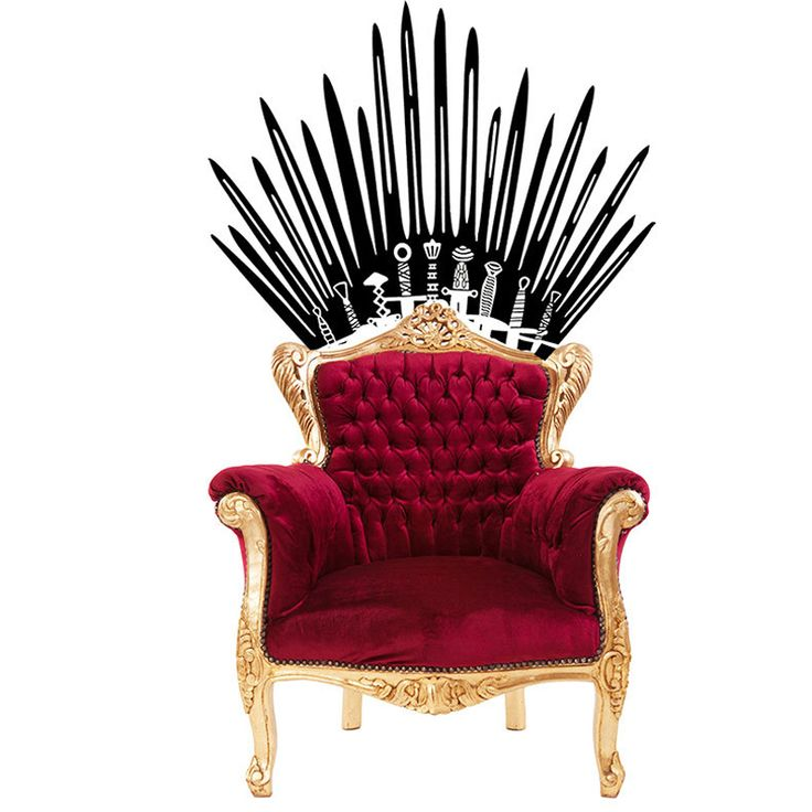 Game of Thrones 3D wallpaper iron throne stickers carved