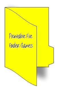 Free printable file games