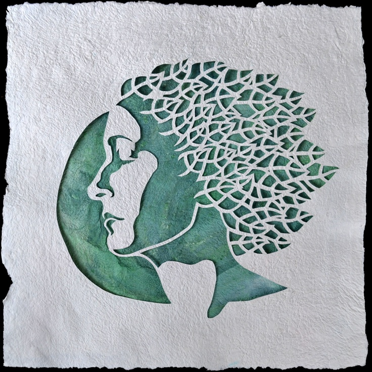 """Emanate III"" handmade cut paper, watercolor, 17""x17"", by Heather Clements, 2013.  www.heatherclementsart.com"