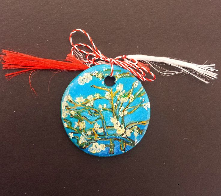"""Pendant -""""Almond Blossoms"""" by Vincent van Gogh- Miniature"""