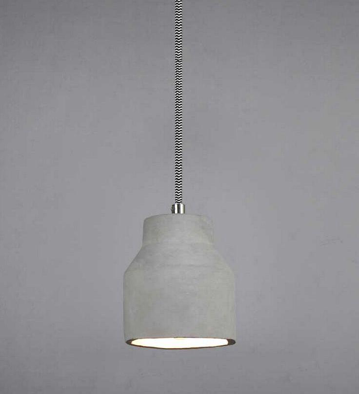 Concrete pendant light
