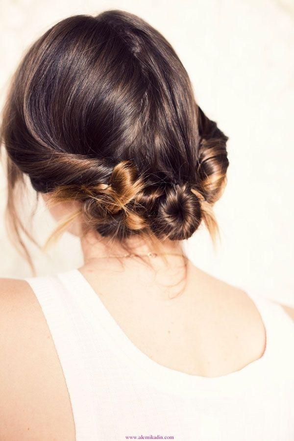 Örgülü Topuz Saç Modelleri 9