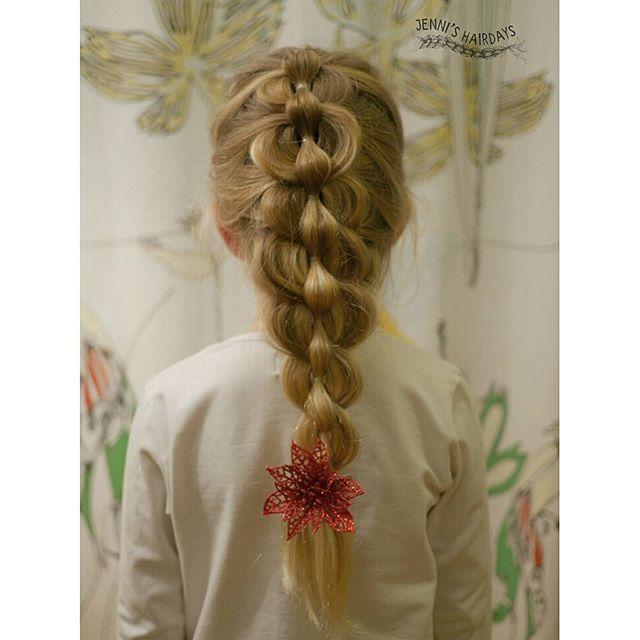 Pull through mermaid braid, merenneito läpivetoletti, pitkät hiukset, letti, long hair