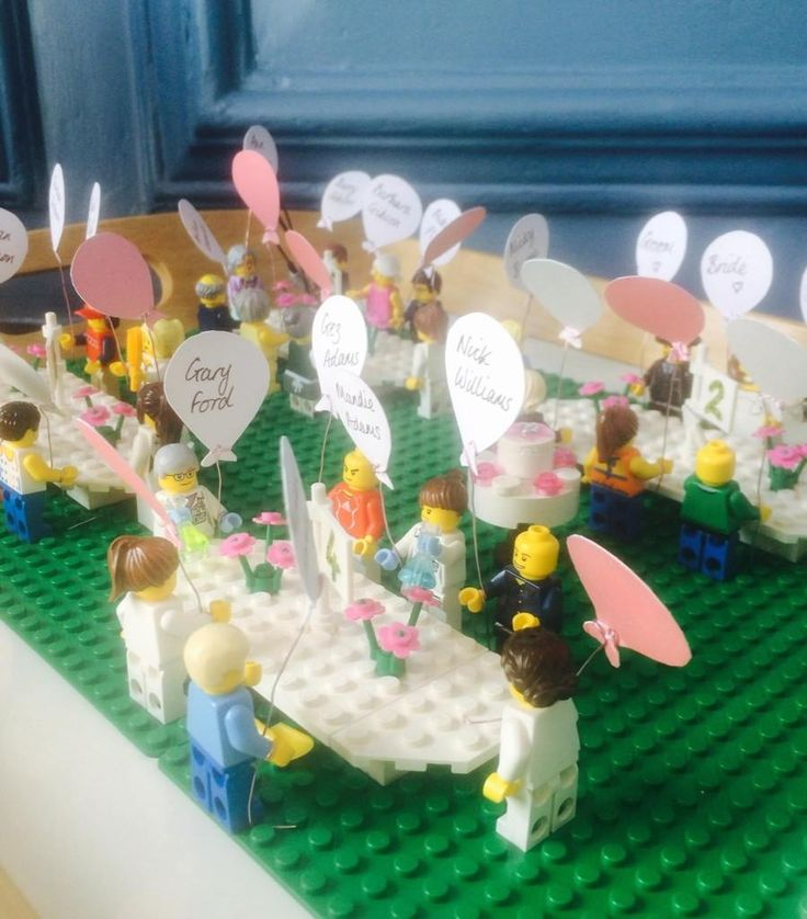 This Lego wedding table plan is BRILLIANT! More Lego ideas on our blog http://www.toptableplanner.com/blog/lego-wedding-seating-plans