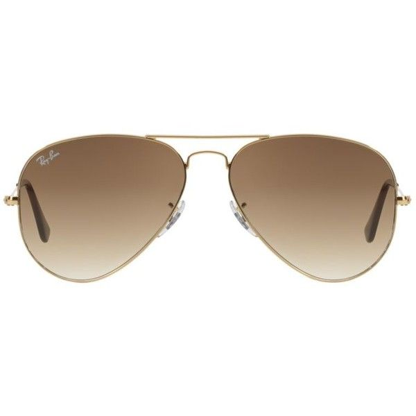 Ray-Ban Rb3025 55 Original Aviator Gold Sunglasses (1.055 DKK) ❤ liked on Polyvore featuring accessories, eyewear, sunglasses, glasses, sunnies, gold aviator glasses, aviator sunglasses, aviator style sunglasses, star eyewear and ray ban eyewear