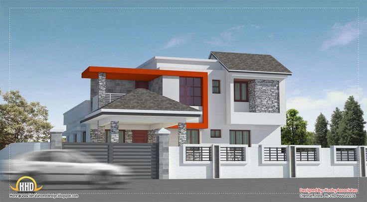 modern house Modern house design in Chennai 2600 Sq Ft Indian Home Decor  Modern houses Pinterest. House Compound Wall Photos  universalcouncil info