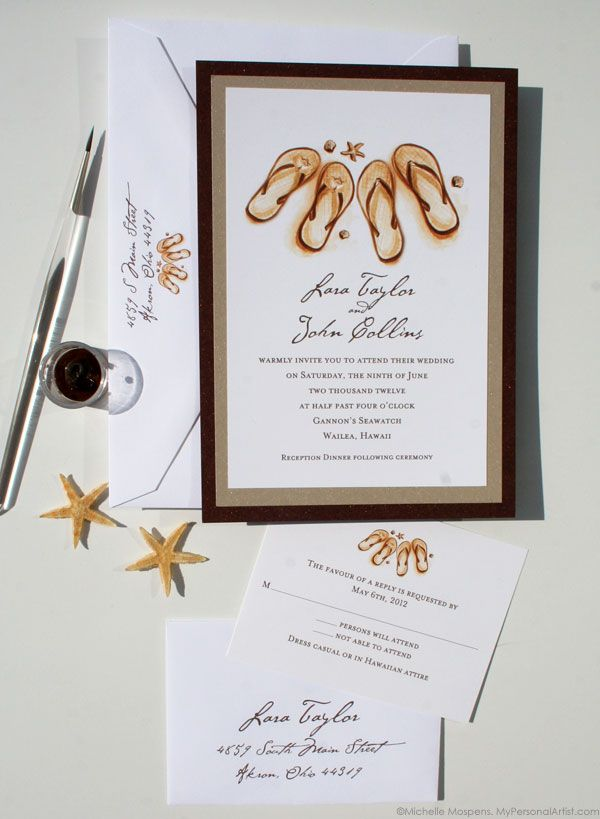 wedding invitations Our Layered Beach Wedding