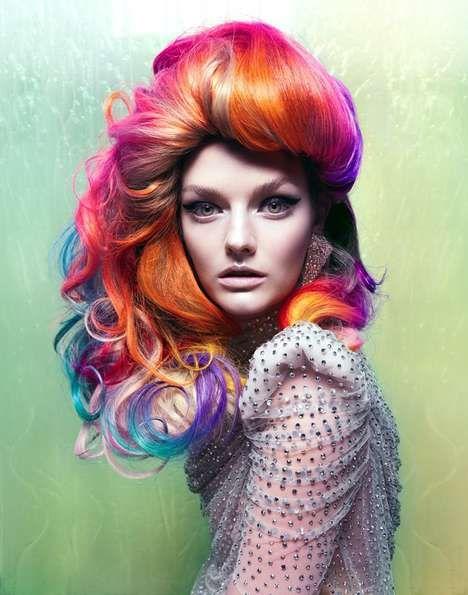 neon: Crazy Hair, Rainbows Hair, Hair Colors, Hairs, Rainbowhair, Crazyhair, Haircolors, Fashion Photography, Colors Hair