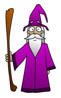 This cartoon wizard can do anything! So please be nice!