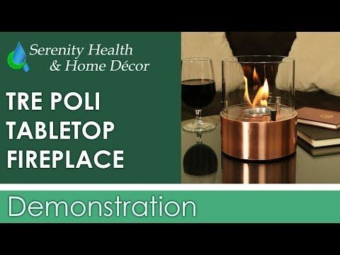Sunnydaze Tre Poli Tabletop Fireplace
