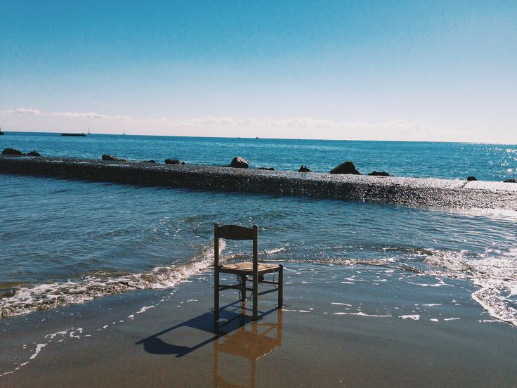 #sea #chair #beach #beautiful #anzio #italy