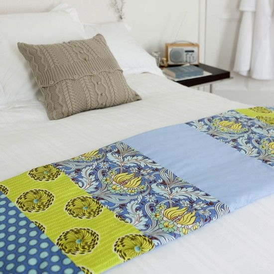 Hand-quilt your runner using small running stitches to create more of a 'raised' effect