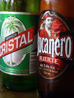 ¿Cristal o Bucanero? Well... Cristal is a morning beer....