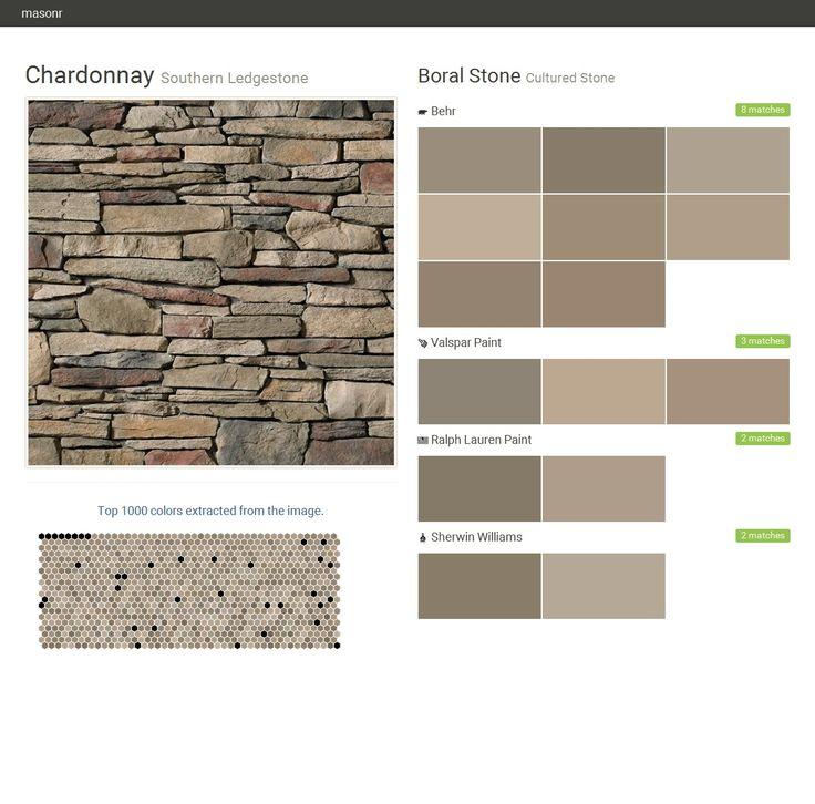 Chardonnay southern ledgestone cultured stone boral - Sherwin williams exterior textured paint ...