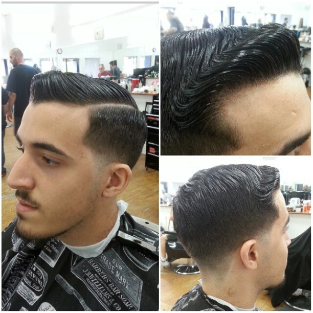 Pomade Hairstyles pomade haircut best hair cut ideas mens pomade hairstyles Low Fade Pomp Wpart Got Some Wave Action On The Pomp