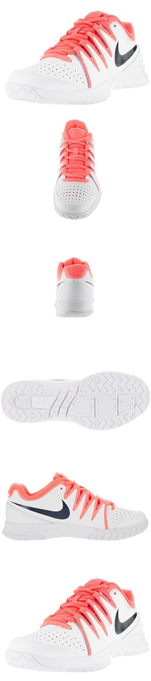 Nike Women's Vapor Court White/Obsdn/Brght Mng/Atmc Pnk Tennis Shoes (7)