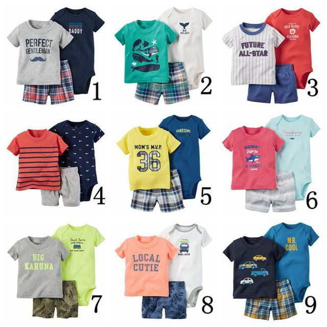 Check it on our site 2017 summer 3 pieces of baby boy clothes Tuta e Animal Print pant set. neonata vestiti di estate insieme vestiti del bambino just only $14.44 with free shipping worldwide  #babygirlsclothing Plese click on picture to see our special price for you