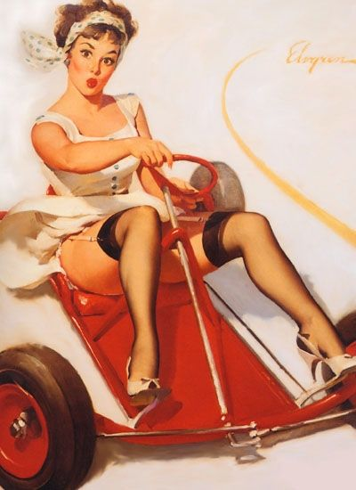 Old Go Kart - Pin-Up Model