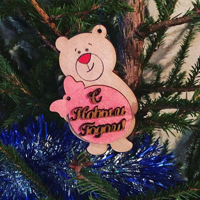 С Новым годом) #подарки #игрушки #новыйгод #handmade #wood #presents