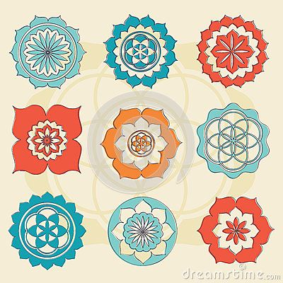Sacred geometry flower of life symbols by Repkina Elena, via Dreamstime