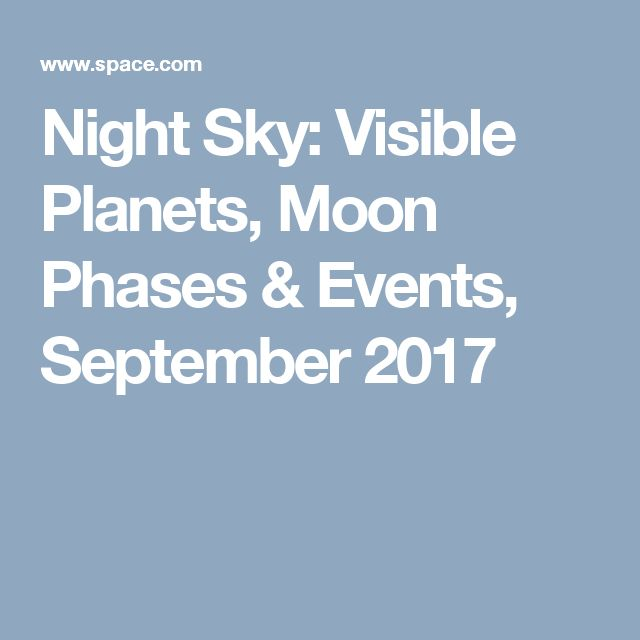 Night Sky: Visible Planets, Moon Phases & Events, September 2017