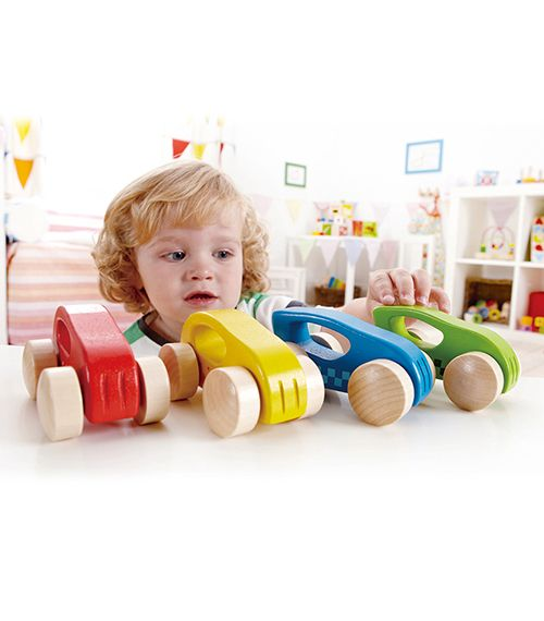 Little Autos Set of 4 From Hape from The Wooden Toybox