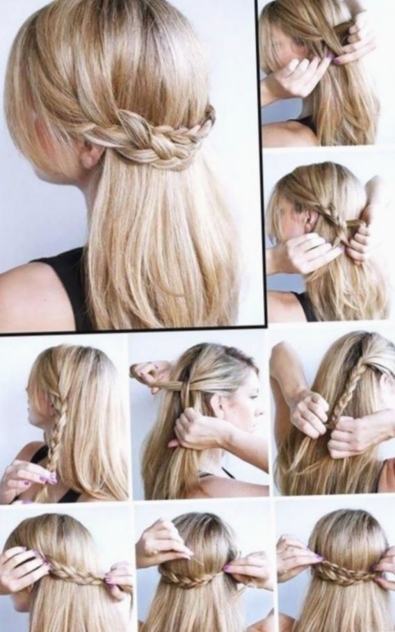 10 Hairstyles For Medium Length Hair Up Dos Simple Updo Medium Length Hair Styles Hair Styles Medium Hair Styles